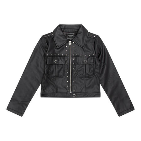 Girls Rockstud Faux Leather Jacket