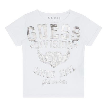 Girls Metallic Logo T-Shirt