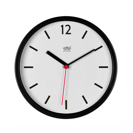 Jet Black Wall Clock