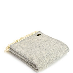 Lifes Fishbone Throw Grey