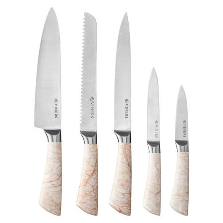 Marble Five-Piece Knife Set