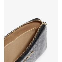 Snakeskin Textured Pouch Bag
