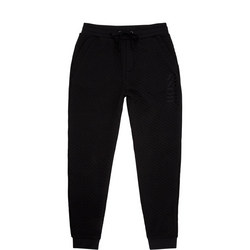 Logo Textured Sweat Pants
