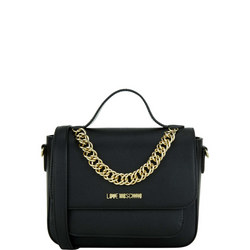 Monogram Chain Detail Crossbody Bag