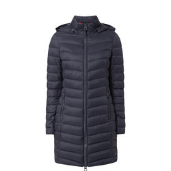 Hooded Longline Quilted Coat