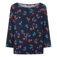 Floral Cropped Sleeve Blouse
