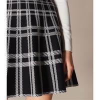Checked-Skirt Dress