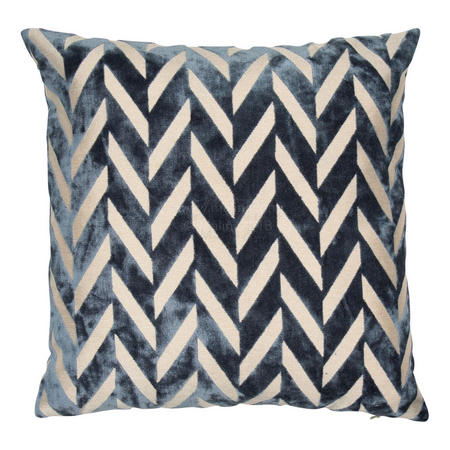 Cut Velvet Dots Cushion Multi 43 x 43cm
