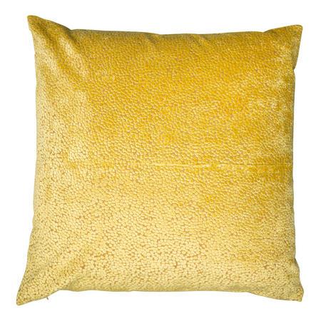 Cut Velvet Dots Cushion Mustard  43 x 43cm
