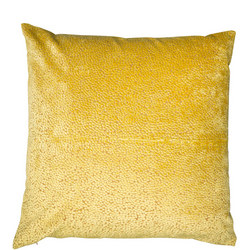 Cut Velvet Dots Cushion Mustard  43 x 43cm