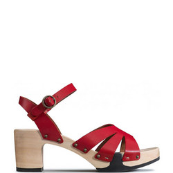 Cut-Out Clog Sandals