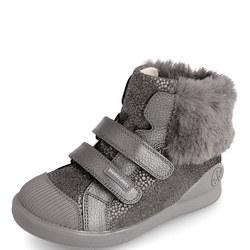 Faux Fur Trim Velcro Boots