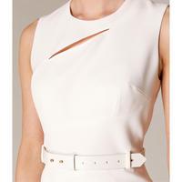 Slashed-Neckline Dress