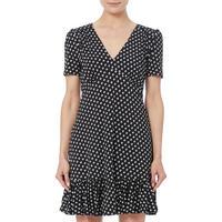Elev Dot Print Midi Dress