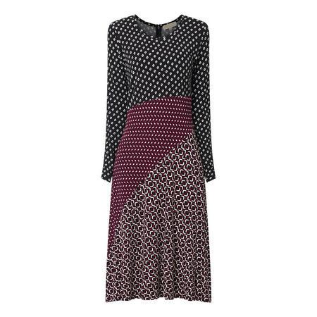 Mix Print Midi Dress