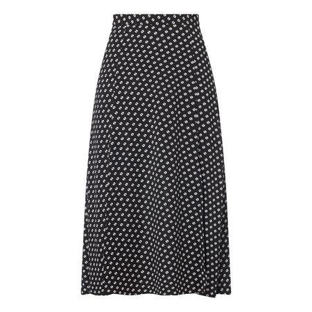 Dot Print Skirt