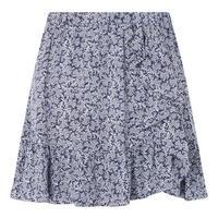 Painterly Reef Print Skirt