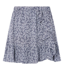 Painterly Reef Print Skirt