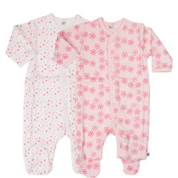 Two-Pack Floral Print Sleepsuits