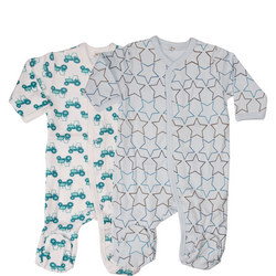 Two-Pack Star Print Sleepsuits