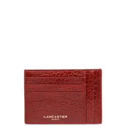 Exotic Croc-Embossed Card Holder
