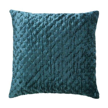 Velvet Embroidery Cushion Petrol 50 x 50cm