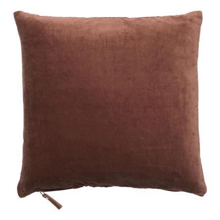 Velvet Soft Cushion Mohogany 50 x 50cm