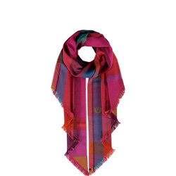 Check Print Blanket Scarf