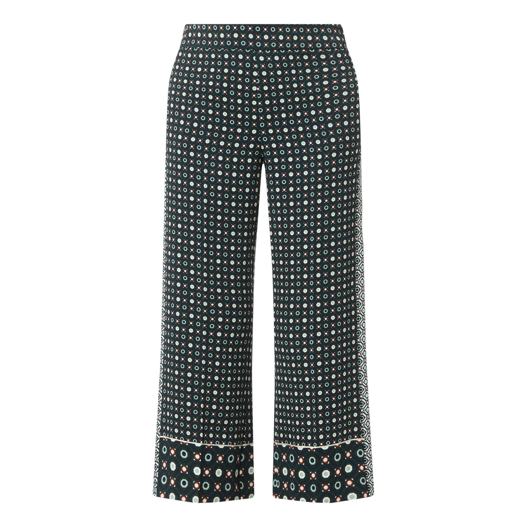 140589902: Geometric Wide Leg Trousers