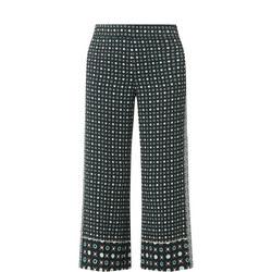 Geometric Wide Leg Trousers