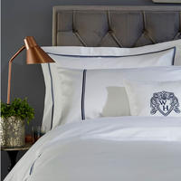 1000 Thread Count 2-Cord Duvet Cover Navy