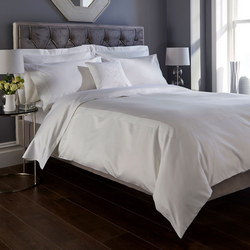 1000 Thread Count Banded Duvet Cover White