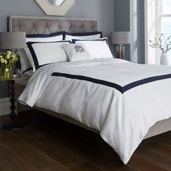 1000 Thread Count Banded Duvet Cover Navy