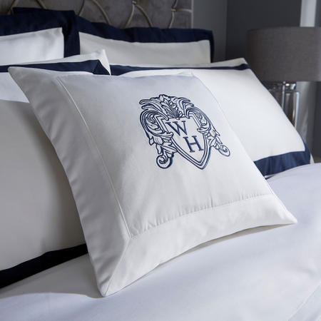 1000 Thread Count Cushion Navy 35 x 35cm