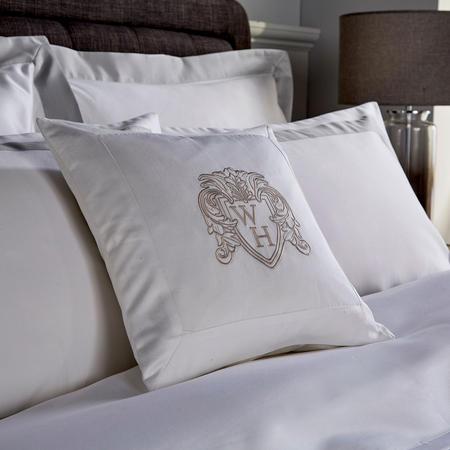 1000 Thread Count Cushion Grey 35 x 35cm