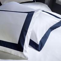 1000 Thread Count Banded Housewife Pillowcase Pair Navy