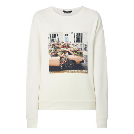 Floral Graphic Sweat Top