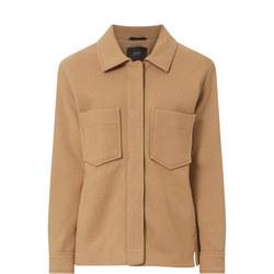 Wool Blend Patch Pocket Jacket