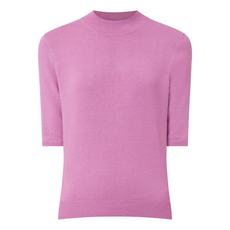 Cropped Funnel Neck Sweater