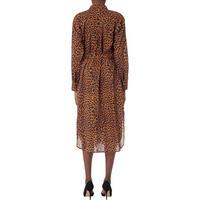 Staple Leopard Print Shirt Dress