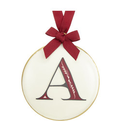 Enamel 'A' Tree Decoration 8cm