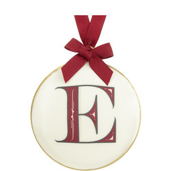 Enamel 'E' Tree Decoration 8cm