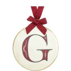 Enamel 'G' Tree Decoration 8cm