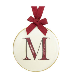Enamel 'M' Tree Decoration 8cm