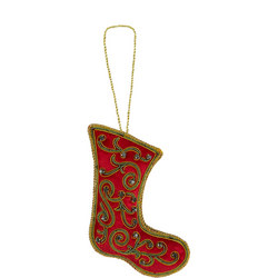 Velvet Stocking Tree Decoration