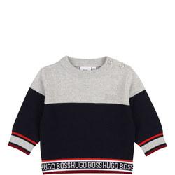 Logo Trim Sweater