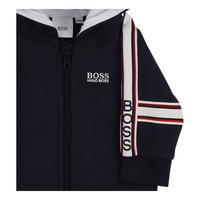 Striped Zip Front Hoody