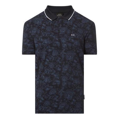 Paisley Tipped Polo Shirt