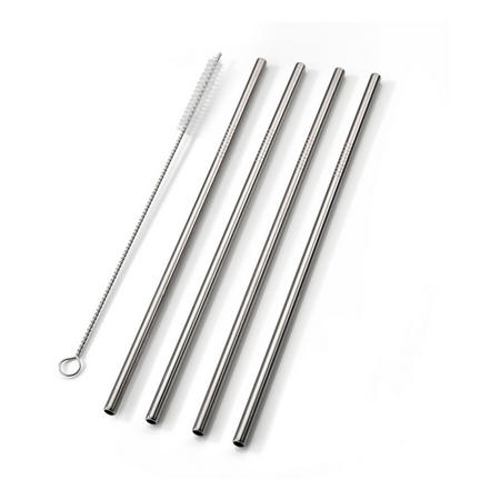 Four-Piece Smoothie Straw Set With Cleaning Brush