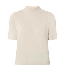 Turtleneck Short Sleeve Top